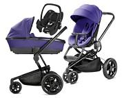 WYPRZEDAŻ Wózek Quinny Moodd (spacerówka + gondola Foldable + fotelik Maxi Cosi Rock) kolor purple pace   KURIER GRATIS