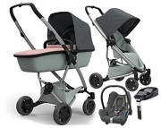 WYPRZEDAŻ!! Quinny Zapp Flex Plus (spac Grey on Graphite + gond Lux Blush on Grey + fot Max Cosi Cabrio + baza Familyfix)