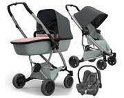 WYPRZEDAŻ!! Quinny Zapp Flex Plus (spac Grey on Graphite + gond Lux Blush on Grey + fotelik Max Cosi Cabrio)  KURIER GRATIS