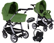 Wózek 4w1 Teutonia Cosmo - Made for You (spacerówka+ gondola Comfort Plus+ fotelik Maxi Cosi Cabrio+ baza) 2014 KURIER GRATIS