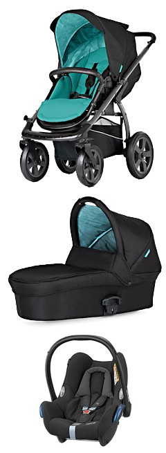 WYPRZEDAŻ! X-lander X-Move (spacer + gond. Light + adapter + fot. Maxi Cosi Cabrio) kol Sea Blue KURIER GRATIS